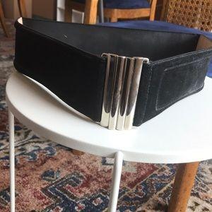 Black suede waist belt